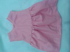 Vestidinho rosa com bolinhas