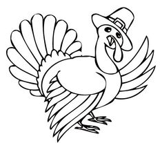 Thanksgiving Day Turkey Singing A Song Coloring Page