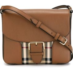 Burberry Horseferry Check Crossbody Bag ($855) ❤ liked on Polyvore featuring bags, handbags, shoulder bags, brown, burberry handbags, brown cross body, burberry, brown crossbody purse and burberry crossbody