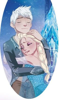 Jack x Elsa I totally ship them.  I DIDN'T KNOW I SHIPPED THEM UNTIL NOW.  OTP FREAKING OTP.  JELSA?  JELSAAA!!!!!!