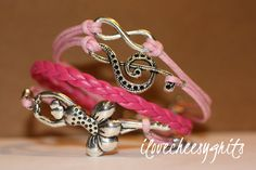 REGAL Infinity Music Ballerina Bracelet Silver by ilovecheesygrits, $10.99
