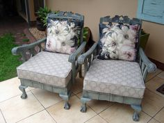 Funky Furniture, Upcycled Furniture, Shabby Chic Furniture, Furniture Making, Painted Furniture, Furniture Design, Couch Makeover, Furniture Makeover, Reupholster Furniture