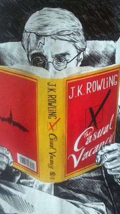 Time Magazine art for The Casual Vacancy review.