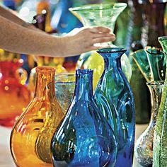 Gekleurde flessen