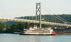 Belle of Cincinnati under the bridge in Maysville, KY