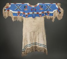 American Indian Art:Beadwork and Quillwork, A SIOUX BEADED HIDE DRESSc. 1900 elk h... Image #1
