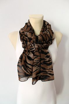 Hey, I found this really awesome Etsy listing at https://www.etsy.com/listing/189910572/animal-print-scarf-brown-scarf-fashion