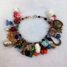 Loaded Charm Bracelet from Upcycled Vintage by heartsoftoday, $40.00