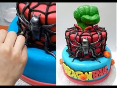 SUPERHEROES CAKE. HOW TO. Birthday Cake Ideas. Tuitorial by Cakes Stepby...