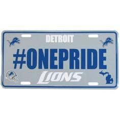 Detroit Lions Hashtag License Plate
