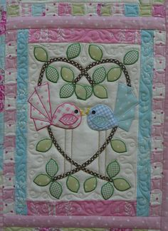 Life is a Celebration Quilt. This is so cute but too much work for me. I'll bet Joe could embroider those little birdies, though.