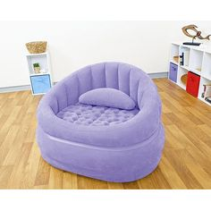 Intex Purple Café Chair from Target. Inflatable Furniture, Inflatable Chair, Cheap Adirondack Chairs, Purple Chair, Upholstered Swivel Chairs, Home Office Chairs, Contemporary Dining Chairs, Baby Bedroom, Girl Bedrooms