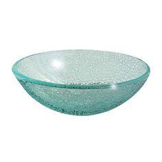 """16-1/2"""" Cracked Glass Vessel Sink at Menards"""