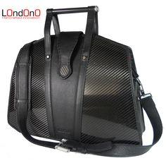 Carbon fiber bag Scuderia with carbon fiber twill pattern
