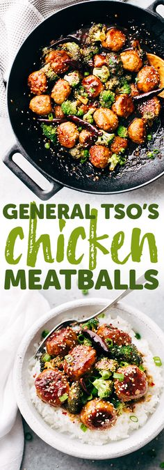 General Tso's Chicken Meatballs - learn how to turn a classic takeout dish into meatballs! You can serve this as a main meal or as an appetizer! #generaltsoschicken #generaltsos #chickenmeatballs #meatballs #takeout | Littlespicejar.com