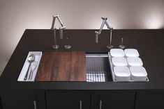 Kohler Stages 45 inch stainless steel kitchen sink. Much too expensive, but I can dream.