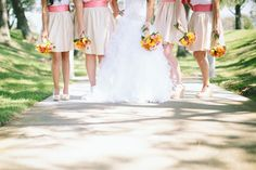 Bright colors and bouquets.