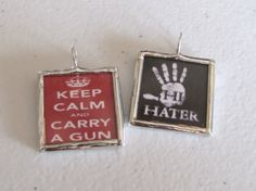 kEeP cALm & CaRRy A GuNCharm by WiredUp4U on Etsy