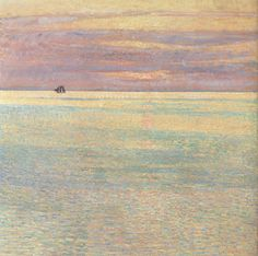 Impressionist Hassam/'s Sunset at Sea Counted Cross Stitch Chart Pattern
