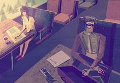 British illustrator Matthew Lyons invites you to his retro Tomorrowland.