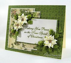 Peace and White Poinsettias by kittie747 - Cards and Paper Crafts at Splitcoaststampers
