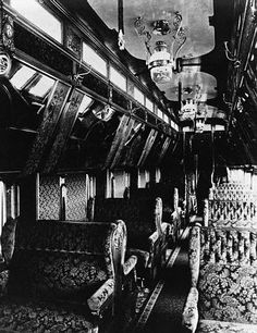 Interior of a Pullman Passenger Car, ca 1887.