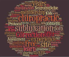 Chiropractic tag clouds are fun to create