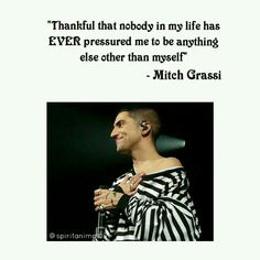 And this is one of the many reasons why we love Mitch Grassi