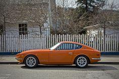 Datsun 240Z- love it restored not modernized. The orange rocks.