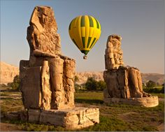 Egypt, Luxor, West Nile Belegost. By Alika  気球から見たいね