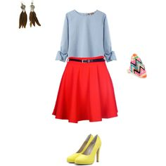 School Days - Teacher Outfit, created by keener007 on Polyvore