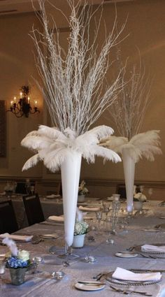 diy ostrich feather centerpieces with sourcing info frosting