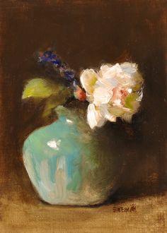 """by M Ioffe Fine art print NEW 8/"""" x 12/"""" Flowers Still Life"""