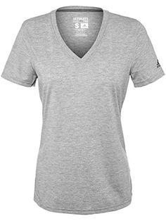 adidas Womens Ultimate Short Sleeve V-neck - Choose Sz color Medium Grey  Heather Large 5d3ff1c31