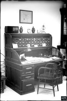Vintage Pharmacist's Desk