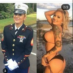 Beautiful, sexy women showing off in and out of uniform Female Army Soldier, Outdoor Fotografie, Look Plus Size, Military Girl, Military Women, Girls Uniforms, Looking For Women, Bikini Girls, Amazing Women