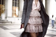 Grey and blush