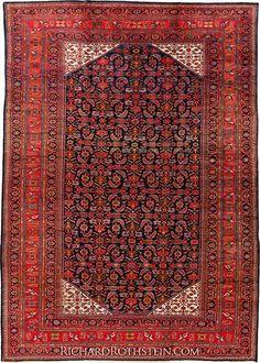 "Lilihan Antique Oriental Rug Size: 12' 6"" x 17' 4"""