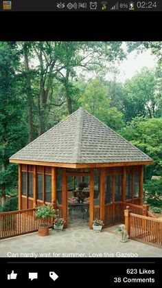 Gazebo attached to deck