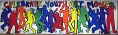 Westfield Middle School in IL celebrates Youth Art Month in Keith Haring style! #ILYAM