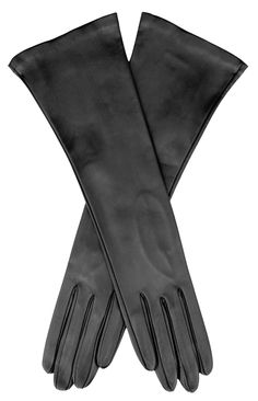 6a608a2752f51 These elegant navy blue ladies' leather gloves imported from Italy reach 4