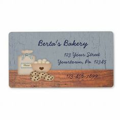 Baked Goods Label from http://www.zazzle.com/bakery+labels