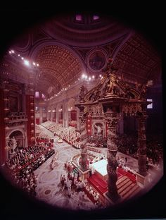 When the Catholic conclave known as Vatican II ended in 1965, the Church had brought itself into greater harmony with a changing world. The extraordinary session was opened in 1962 by Pope John XXIII, 80. He did not live to see such council decisions as reaching out to non-Catholics and permitting services in languages other than Latin.