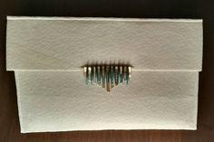 #handbag #felt #AT #myhandmade #white #gold #torquoise #golddetails fb.me/atmyhandmade atmyhandmade@gmail.com