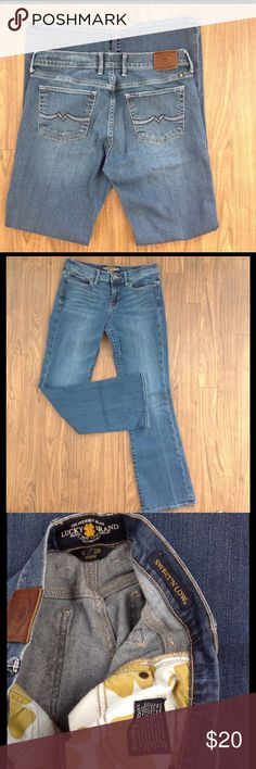 Lucky brand jeans sweet & low denim sz 6/28 reg Lucky brand jeans. Sweet & low style. Size 6/28 regular. detail back pockets. Good preowned condition. Lucky Brand Jeans