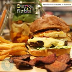 BURGER REBEL – DUBAI  Full of attitude and Slider Burgers to match, this stylish burger joint is certainly worth the visit.