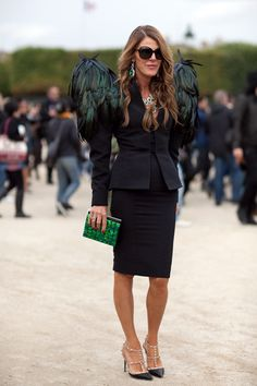 Taking padded shoulders to a whole new level - Anna Dello Russo