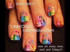 back to school nail art CRAYONS 435   #Nailart  Like,Repin Share :)
