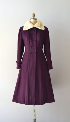 1940s wool princess coat