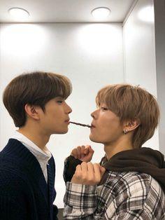 Jungwoo and Yuta pepero kiss Taeyong, Nct 127, Nct Yuta, Lucas Nct, Winwin, Kpop, Johnny Seo, Jisung Nct, Jung Woo